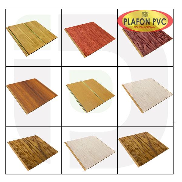 Motif Plafon PVC merk Golden Crown Jual Distributor Pabrik